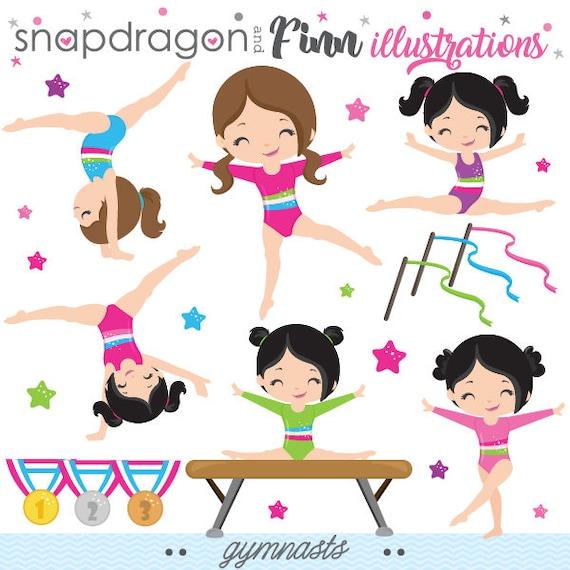 gymnastics clipart gymnast clip art tumbling clipart etsy rh etsy com Tumbling Clip Art Silhouette Tumbling Clip Art Silhouette