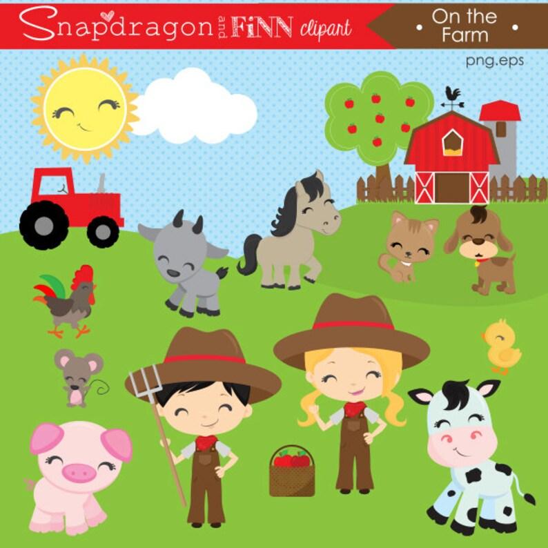 BUY5GET5 Barnyard clipart, Farm clipart, Farm Animal clipart, Barn clipart,  Animals, Farm Boy, Farm Girl, clip art,