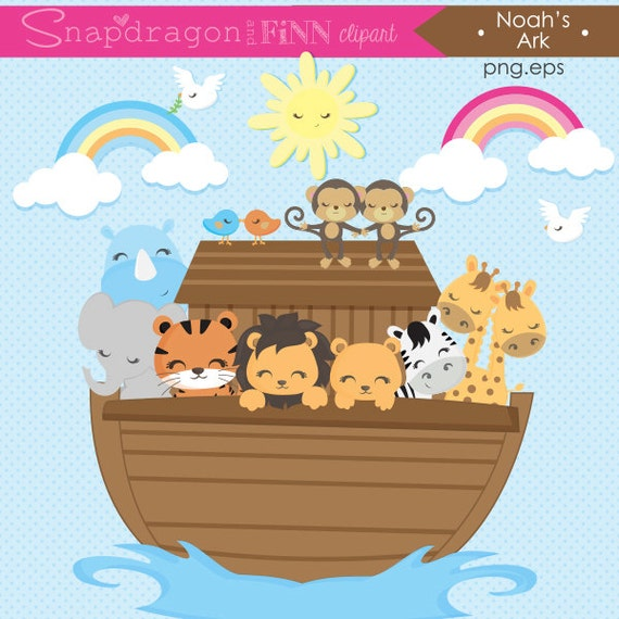 ark clipart noah s ark clip art ark animals clipart etsy rh etsy com noah's ark clip art for children name tags cute noah's ark clipart