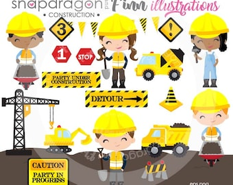 Construction clipart, Constructions Truck clipart,  Construction Boy, Construction Papers, Truck clipart, Commercial License Included