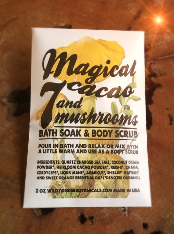 Magical Cacao and 7 Mushroom Soak + Scrub