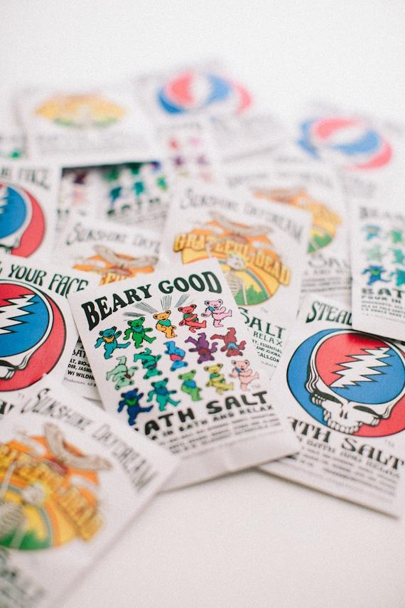 GRATEFUL DEAD ™ Inspired Bathing Salt Packets