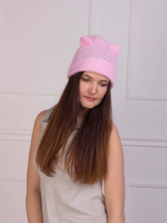 Lana Nero Cotone HAND Knitted Ear Warmer Cappello Cerchietto Fiore