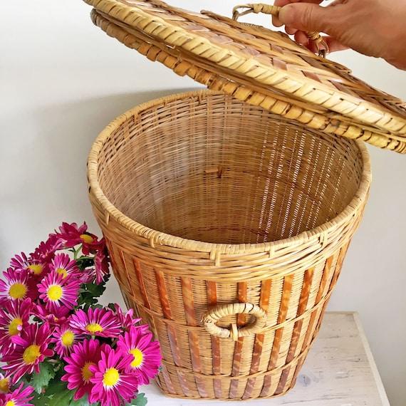 Bamboo Baskets For Kitchen Picnic Foods Flower Vegetable Laundry Storage Basket
