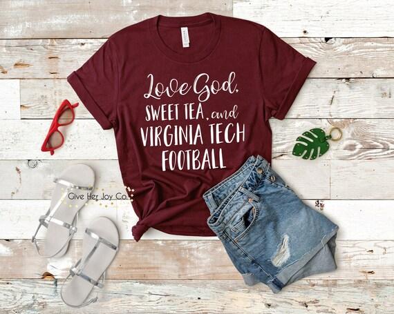 sports shoes 59e88 2f654 Love God Sweet Tea and Virginia Tech Football Shirt, Virginia Tech Shirt,  VT Hokies, Sweet tea and the SEC, Virginia Tech Shirt Hokies Shirt