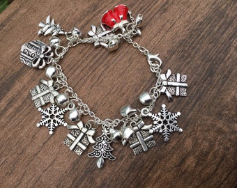 Reduced: Christmas presents charm bracelet