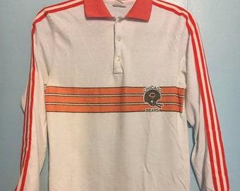 Vintage Chicago Bears nfl football long sleeve shirt yxl/mens small