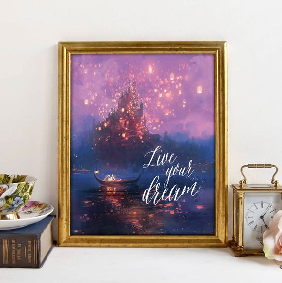 tangled art print printable quote tangled poster at last i etsy