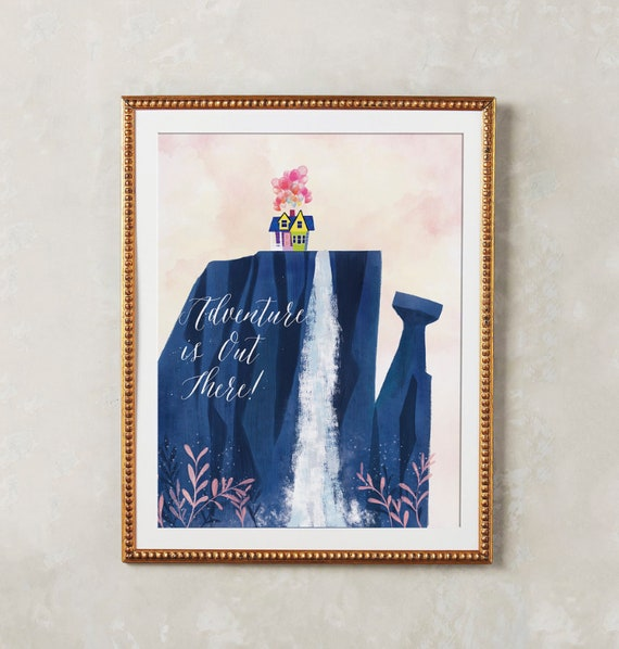 Up Poster Adventure Is Out There Up House Balloon Pixar Up Etsy Classy Ipi Quote