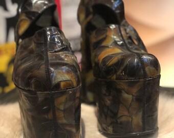 0c513aadd770 VINTAGE 70 s extreme platform shoes