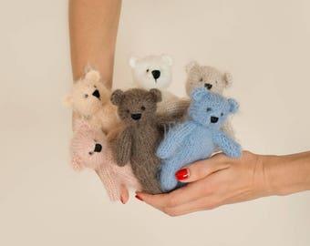 Teddy Bear Photo Prop |  Newborn props toy | Knit bear toy  | Stuffed Animal |  Bear stuffie | Bear Toy | Knitted bear | Knit bear toy