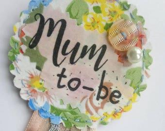 Mum to Be Rosette Keepsake
