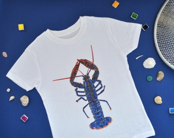 Lobster kids,T-shirt, kids clothes-teenagers,t-shirt-babies clothing,boys'clothing, girls'clothing,printed kids tee, last pieces available!!