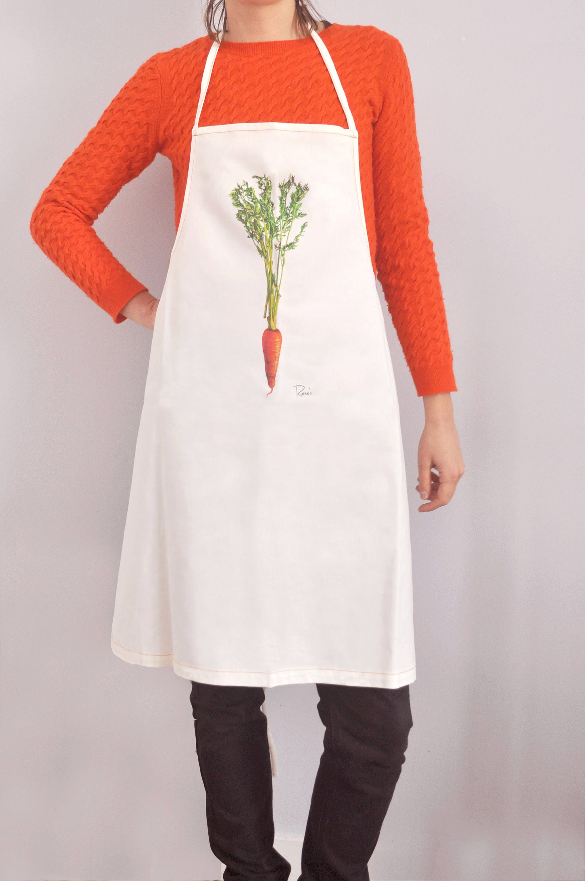 Organic a Apron with a Organic printed carrot -from an original painting 398974