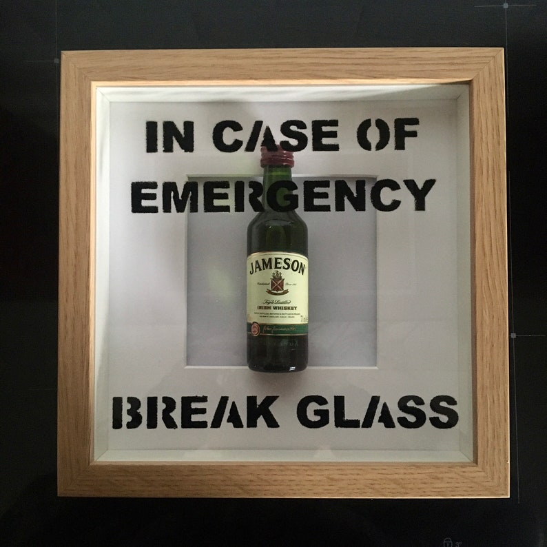 Jameson In Case Of Emergency Break Glass frame. Perfect image 0