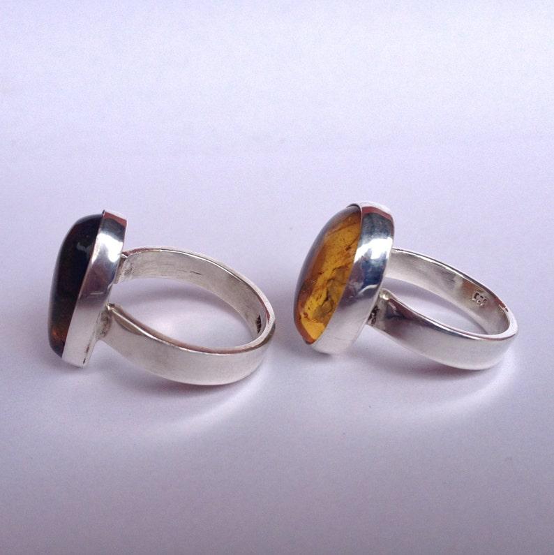 Silver Band Amber Ring Amber Rings Amber Ring Men/'s Amber Ring Women/'s Amber Ring Handmade Amber Ring Yellow Amber Ring