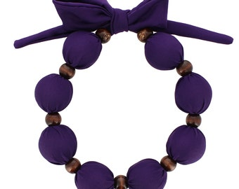 Beat Hot Flashes in Style! Nano-Ice Cooling Necklace -- Solid Purple