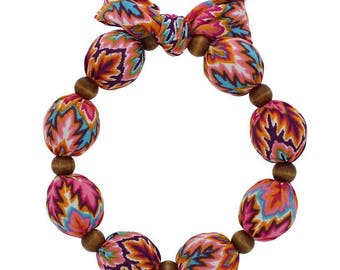 Beat Hot Flashes in Style! Nano-Ice Cooling Necklace - Coral/Turquoise