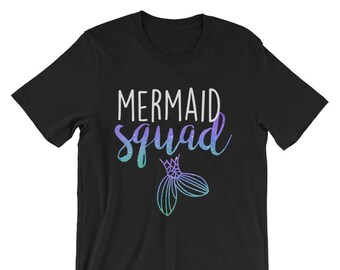 Mermaid Squad T-Shirt Mermaid Squad Mermaid Party & Bachelorette Party Bridal Party Tank Tops Mermaid Tank Top Mermaid Birthday Party