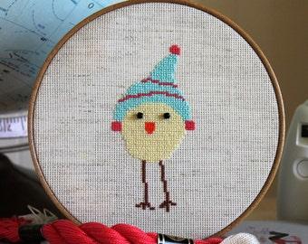 Counted Cross Stitch Bird - Luhu Bird Snow Bum - Instant Download PDF Pattern