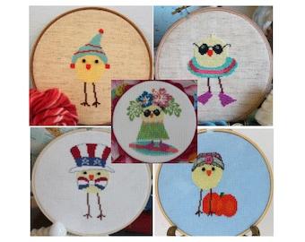 Cross Stitch Patterns - Luhu Bird Package - Instant Download PDF Patterns