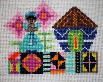 Cross Stitch Pattern - Pearl of Africa - Instant Download PDF Pattern