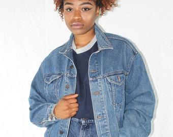 Vintage Denim Jacket Size 2X Vintage Jean Jacket Womens Denim Jacket 90s Denim Jacket 80s Jean Jacket