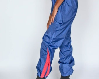 eed0bc9e Vintage Nike Track Pants Size Large - Blue Red Joggers 70s