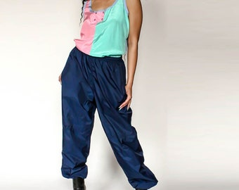 5311f5f678a0a2 Vintage Nike Track Pants Blue Size Large