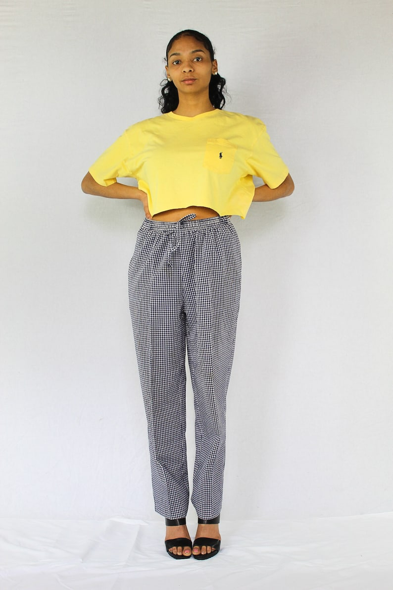 ccb15fb87ac83 Vintage Polo Crop Top Size Large Yellow Ralph Lauren Cropped