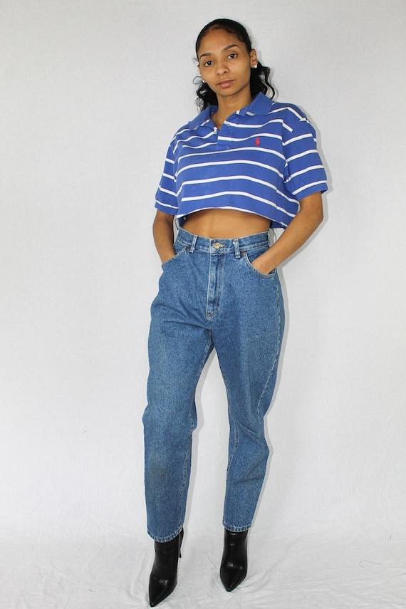 b44f9457226 Striped Polo Crop Top Cropped Shirt Ralph Lauren Polo Ralph | Etsy
