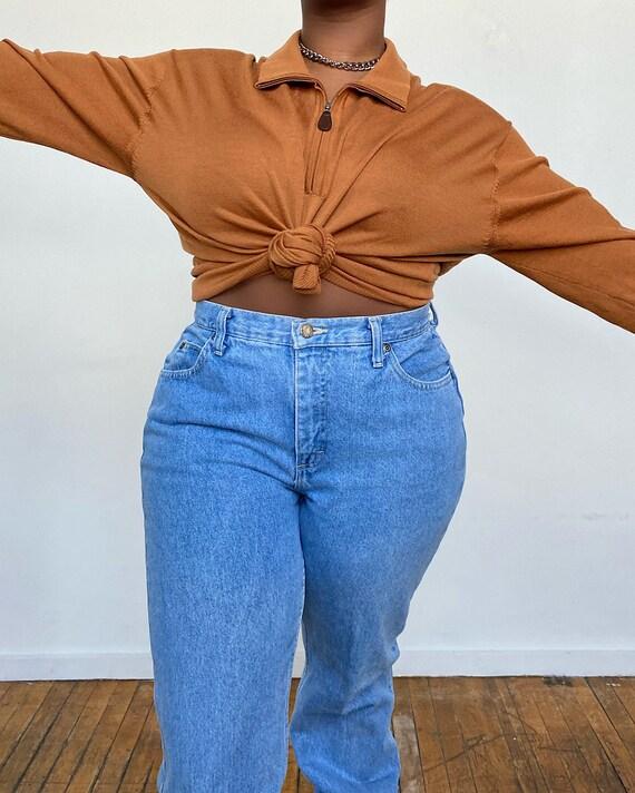 Vintage Oversized Camel Pullover Sweater (L) - Ove