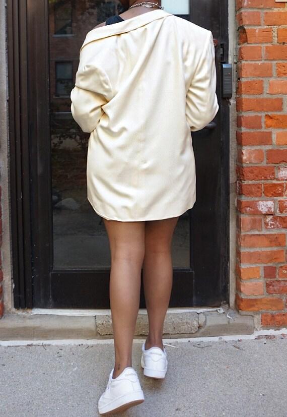 Vintage Oversized Cream Blazer - White Oversized … - image 5