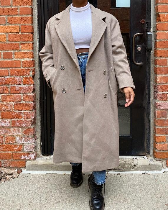 Vintage Beige Jones New York Wool Coat - Jones New