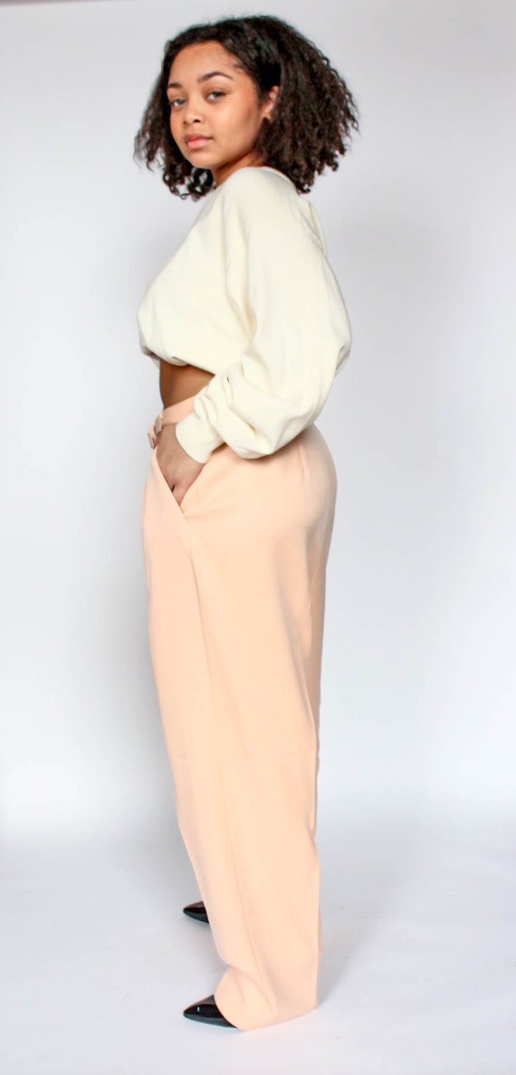 classic style of 2019 durable service discount for sale Vintage Peach Pants Size 16 - Straight Leg High Waist Trousers Oversized 90s