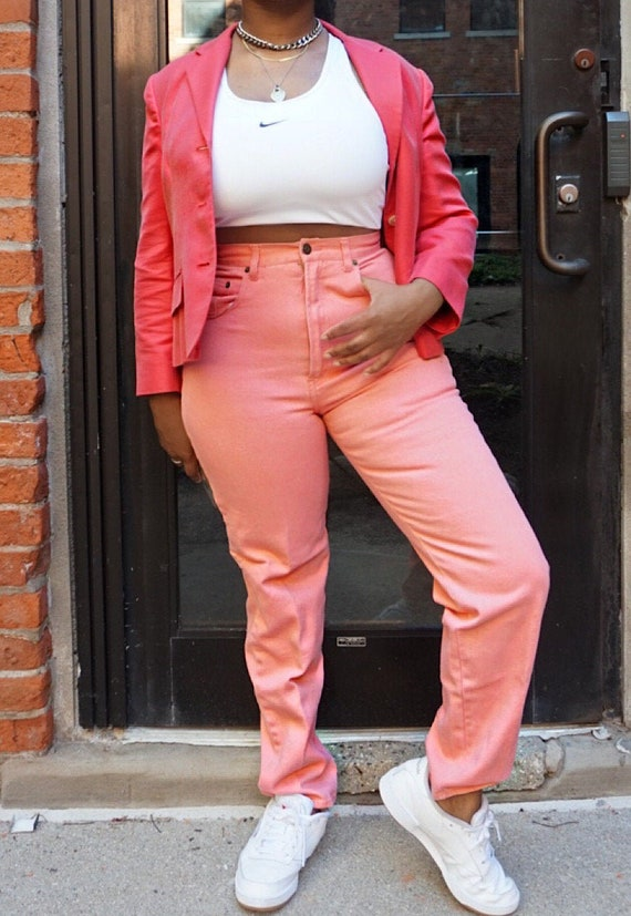 Vintage Pink Willi Smith Jeans - Pink High Waisted