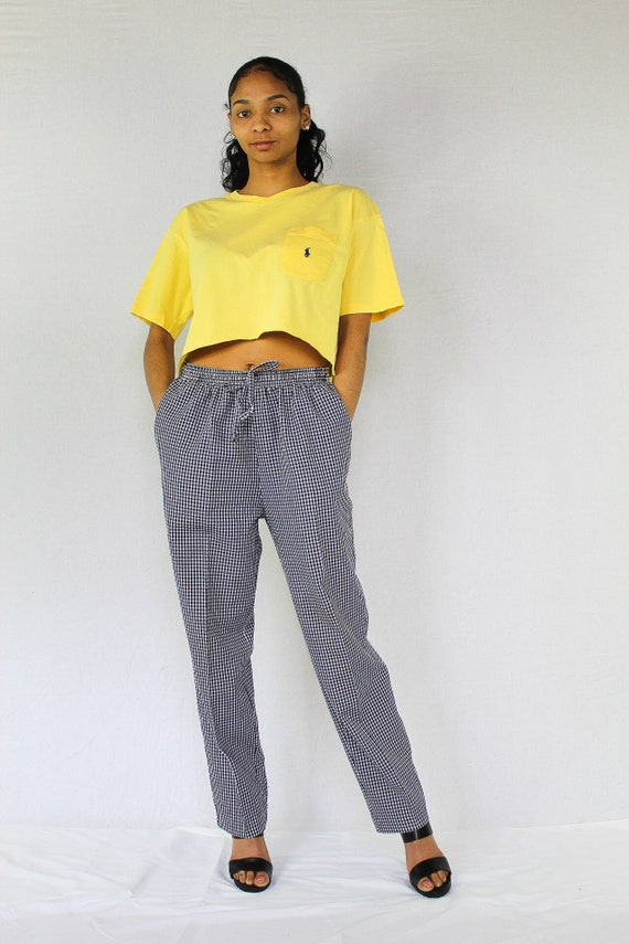 05d4acd9f26 Vintage Polo Crop Top Size Large Yellow Ralph Lauren Cropped | Etsy