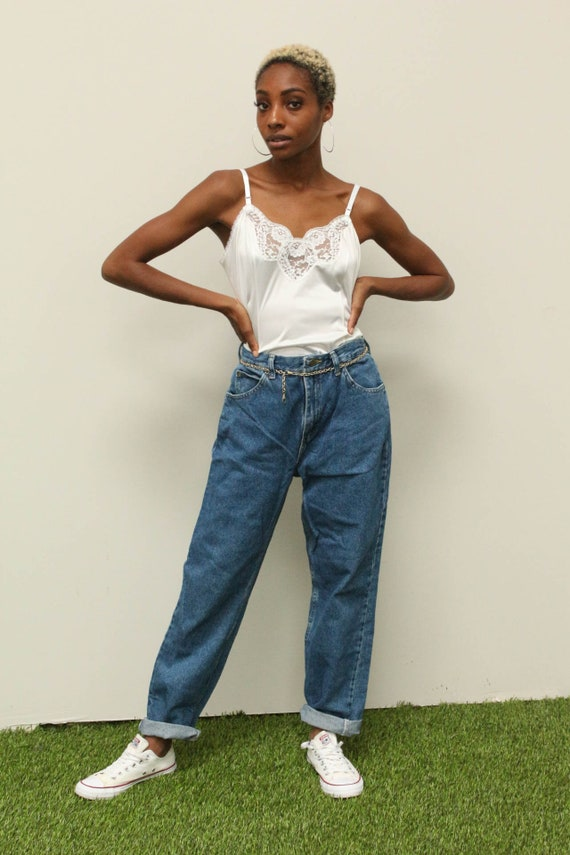 Vintage Lee Riders Jeans Size 10 Women's Straight Leg Mom High Waisted Jeans 90s