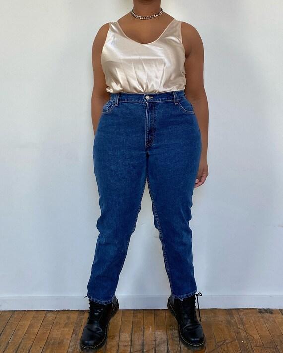 Vintage Levi's 550 Dark Wash Mom Jeans (32) - Levi