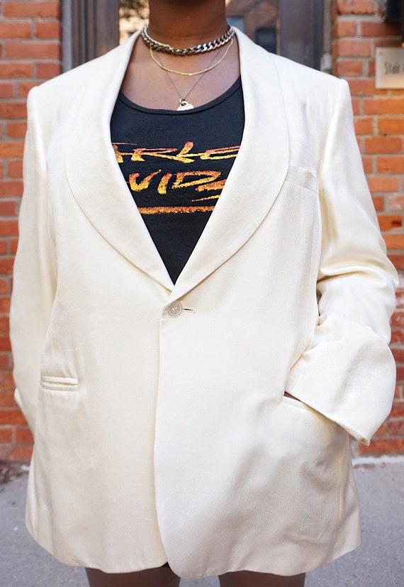 Vintage Oversized Cream Blazer - White Oversized … - image 4