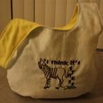 Embroidered Medium Stress Zebra Knot Bag