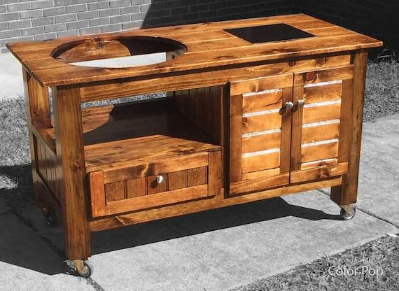 Outdoor Küche Kamado Joe : Benutzerdefinierte grilltisch große ei kamado joe primo etsy