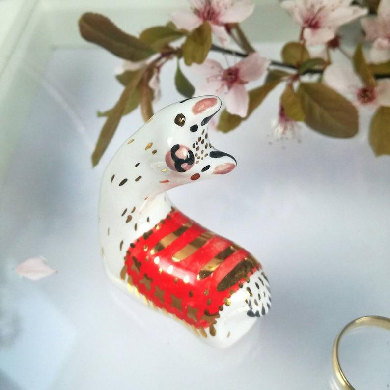 Ring Holder Llama Llama Gift Idea Boho Ceramic Llama Figurine Alpaca Lama Jewelry Storage Idea