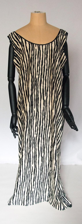 Zebra Stripe fake fur  dress 1980's Vintage
