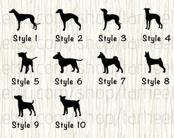 Greyhound Car Decal, Whippet Car Decal, Italian Greyhound Car Decal,Bull Terrier Car Decal,Basenji Car Decal,Jack Russel Decal,Terrier Decal