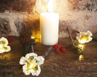 Winter forest licht Garland, Winter decoratie, Christmas Decor, Christmas fairy lights, slingers met verlichting, Christmas garland, Decor van het bos