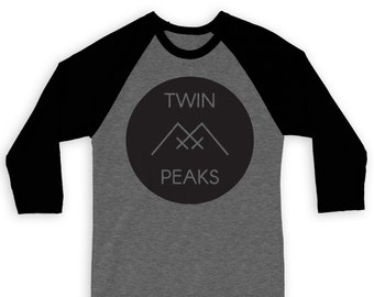 Twin Peaks Raglan 3/4 Sleeve Tee