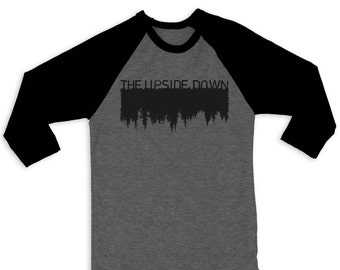 The Upside Down Raglan 3/4 Sleeve Tee Stranger Things