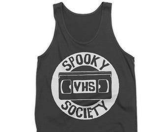 Spooky VHS Society Tank Top