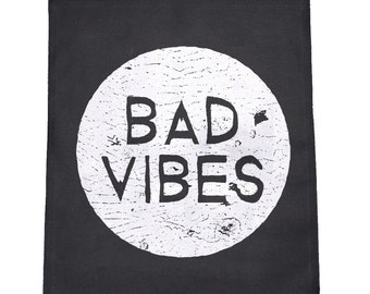 Bad Vibes (Bad Moon) Cloth Large Back Patch